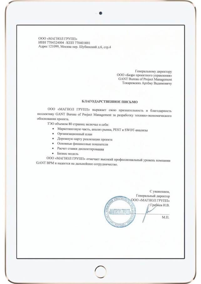 технико экономическое обоснование проекта
