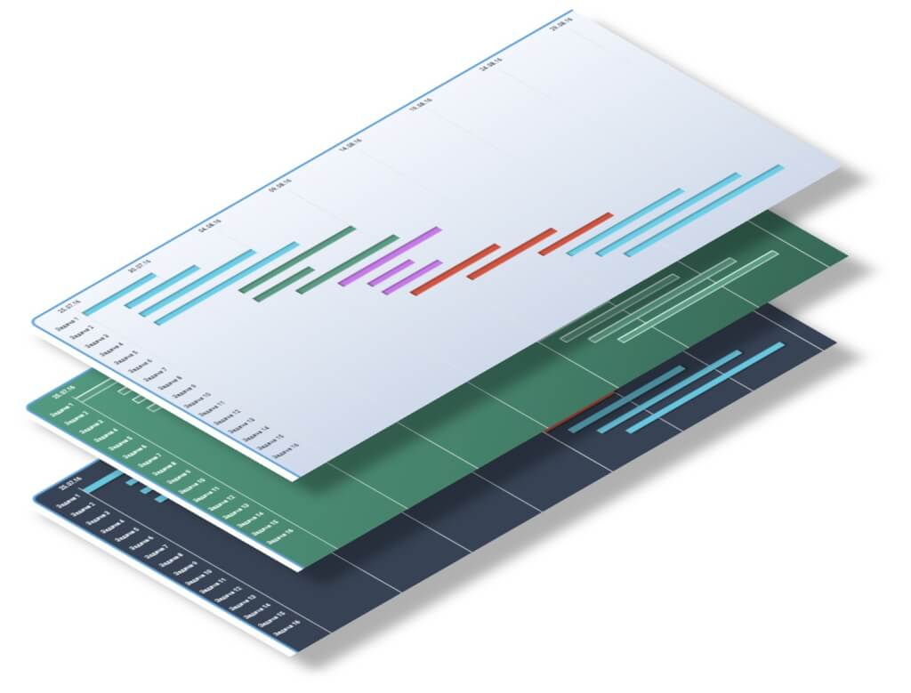 Диаграмма ганта в excel - Скачать бесплатно шаблон пример эксель