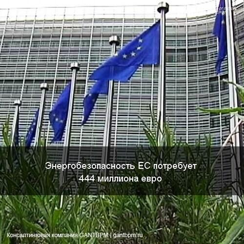 Энергобезопасность ЕС потребует 444 миллиона евро
