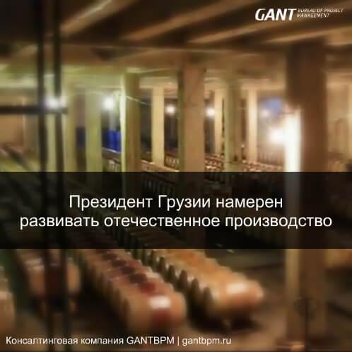 Президент Грузии намерен развивать отечественное производство